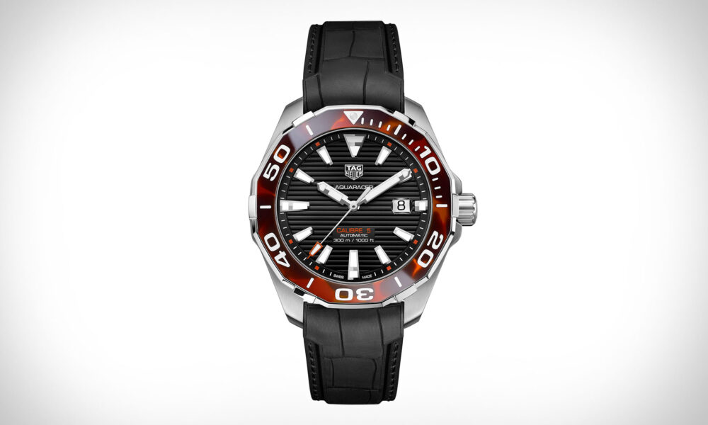 CBD Oil Tag Heuer Aquaracer Tortoise Shell Watch